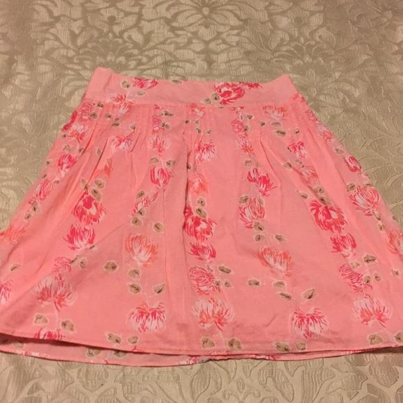 LOFT Dresses & Skirts - Ann Taylor Loft pink floral skirt